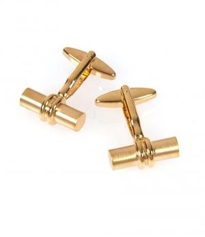 Butoni Hawes & Curtis  cilindrici -suflati in aur