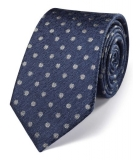 Cravata barbati - Charles Tyrwhitt -matase 100% - albastra si cu buline argintii