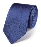 Cravata barbati- Charles Tyrwhitt - matase 100 % - albastra cu motive florale geometrice